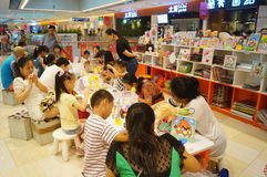 Shenzhen, China: children play games Royalty Free Stock Images