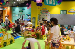 Shenzhen, China: children play games Royalty Free Stock Photos