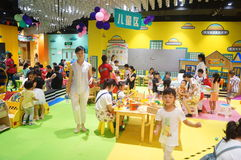 Shenzhen, China: children play games Royalty Free Stock Photos