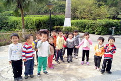 Shenzhen china: the children play in the park Royalty Free Stock Photography