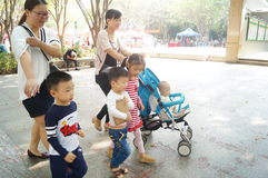 Shenzhen, China: the children are playing in the park Royalty Free Stock Photo