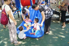 Shenzhen, China: the children are playing in the park Stock Photography