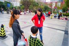 Shenzhen, China: children practice roller skating Stock Image