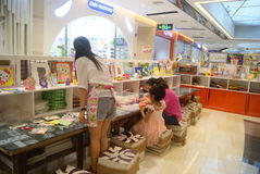 Shenzhen, China: Children's arts and crafts products workshop Royalty Free Stock Photo