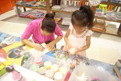 Shenzhen, China: Children's arts and crafts products workshop Stock Images