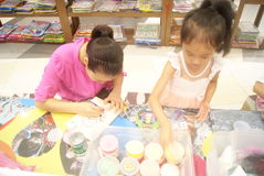 Shenzhen, China: Children's arts and crafts products workshop Stock Photo