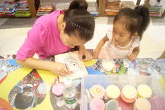 Shenzhen, China: Children's arts and crafts products workshop Royalty Free Stock Image