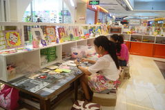 Shenzhen, China: Children's arts and crafts products workshop Stock Image