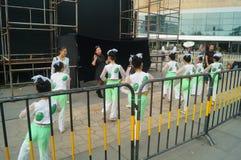 Shenzhen, China: Children's pop music festival. Shenzhen Bay Sports Center earth square, children's theater, organized children's pop music festival activities Royalty Free Stock Photos
