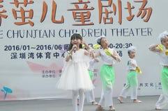 Shenzhen, China: Children's pop music festival. Shenzhen Bay Sports Center earth square, children's theater, organized children's pop music festival activities Royalty Free Stock Photo