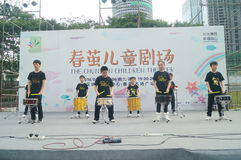 Shenzhen, China: Children's pop music festival. Shenzhen Bay Sports Center earth square, children's theater, organized children's pop music festival activities Stock Image