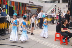 Shenzhen, China: Children's pop music festival. Shenzhen Bay Sports Center earth square, children's theater, organized children's pop music festival activities Stock Photo