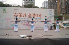 Shenzhen, China: Children's pop music festival. Shenzhen Bay Sports Center earth square, children's theater, organized children's pop music festival activities Stock Photos