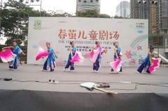 Shenzhen, China: Children's pop music festival. Shenzhen Bay Sports Center earth square, children's theater, organized children's pop music festival activities Royalty Free Stock Images