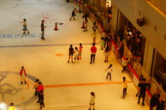 Shenzhen, China: children in skating, very happy. During the summer vacation, the children exercise in skating, very happy. In Shenzhen, China Royalty Free Stock Photography