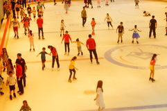 Shenzhen, China: children in skating, very happy. During the summer vacation, the children exercise in skating, very happy. In Shenzhen, China Royalty Free Stock Image