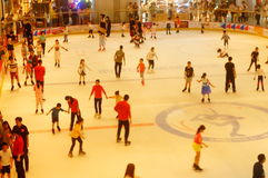 Shenzhen, China: children in skating, very happy. During the summer vacation, the children exercise in skating, very happy. In Shenzhen, China Stock Photography