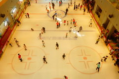 Shenzhen, China: children in skating, very happy. During the summer vacation, the children exercise in skating, very happy. In Shenzhen, China Royalty Free Stock Images