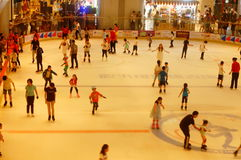 Shenzhen, China: children in skating, very happy. During the summer vacation, the children exercise in skating, very happy. In Shenzhen, China Stock Photos