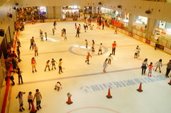Shenzhen, China: children in skating, very happy. During the summer vacation, the children exercise in skating, very happy. In Shenzhen, China Stock Images