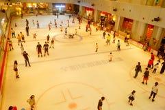 Shenzhen, China: children in skating, very happy Royalty Free Stock Photography