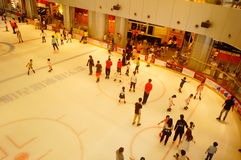 Shenzhen, China: children in skating, very happy. During the summer vacation, the children exercise in skating, very happy. In Shenzhen, China Stock Image
