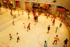 Shenzhen, China: children in skating, very happy. During the summer vacation, the children exercise in skating, very happy. In Shenzhen, China Royalty Free Stock Photo