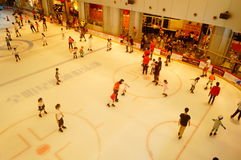 Shenzhen, China: children in skating, very happy. During the summer vacation, the children exercise in skating, very happy. In Shenzhen, China Stock Photo