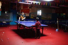 Shenzhen, China: Children Table Tennis Training Stock Photos