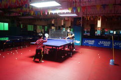 Shenzhen, China: Children Table Tennis Training Royalty Free Stock Photos