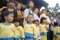 Shenzhen, china: children visitors Royalty Free Stock Images