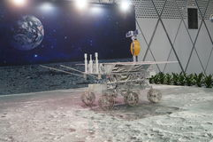 Shenzhen, China: Chinese Lunar Exploration Program science Awareness Week activities. Shenzhen Bay Sports Center, organized by China's lunar exploration science royalty free stock photo