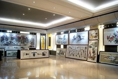 Shenzhen china: chinese painting exhibition Royalty Free Stock Photo