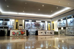 Shenzhen china: chinese painting exhibition Royalty Free Stock Images
