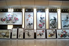 Shenzhen china: chinese painting exhibition Stock Photography
