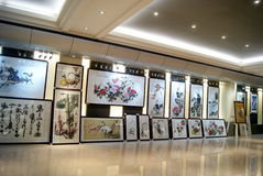 Shenzhen china: chinese painting exhibition Stock Image