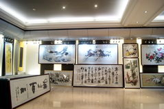Shenzhen china: chinese painting exhibition Stock Photo