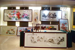 Shenzhen china: chinese painting exhibition Royalty Free Stock Image