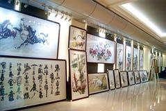 Shenzhen china: chinese painting exhibition Royalty Free Stock Image