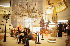 Shenzhen, China: Christmas landscape decoration Royalty Free Stock Image