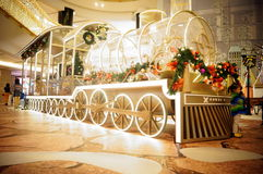 Shenzhen, China: Christmas landscape decoration Royalty Free Stock Images