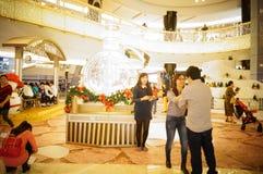 Shenzhen, China: Christmas landscape decoration Stock Photos