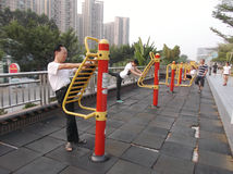 Shenzhen, China: the citizens in the morning exercise Royalty Free Stock Image