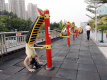 Shenzhen, China: the citizens in the morning exercise Stock Images