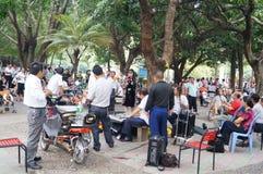 Shenzhen, China: citizens singing Entertainment Royalty Free Stock Photos