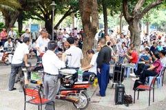 Shenzhen, China: citizens singing Entertainment Stock Image