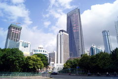 Shenzhen china:city construction and road Royalty Free Stock Image