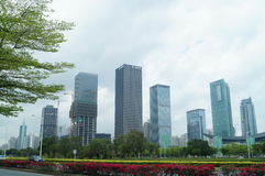 Shenzhen, China: city landscape building Royalty Free Stock Photo