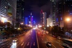 Shenzhen china: the city at night Royalty Free Stock Photo