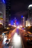 Shenzhen china: the city at night Royalty Free Stock Image